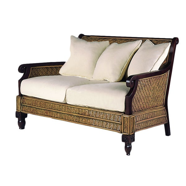 Trinidad Hardwood And Rattan Loveseat Free Shipping Today Overstock 17292939