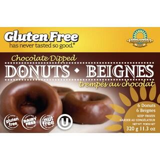 Kinnikinnick Gluten Free Chocolate Dipped Donuts, 11.2 oz. [2 Pack]