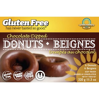 Kinnikinnick Gluten Free Chocolate Dipped Donuts, 11.2 oz. [2 Pack]