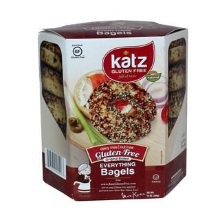 Katz Gluten Free Everything Bagels, 14 Oz [2 Pack]