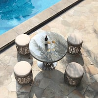 Basson 5-piece Rattan Outdoor Dining Set