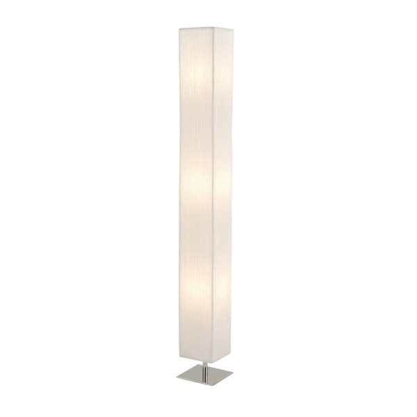 Contemporary Styled Steel Fabric Floor Lamp