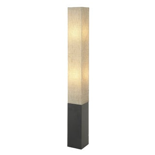 "Square Wood Paper Floor Lamp 63""H"
