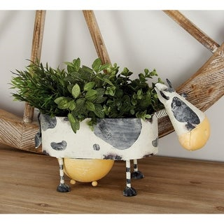 Farmhouse 9 x 16 Inch Cow Planter by Studio 350