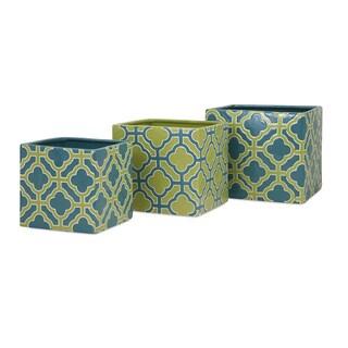 Quadra Ceramic Planter (Set of 3)