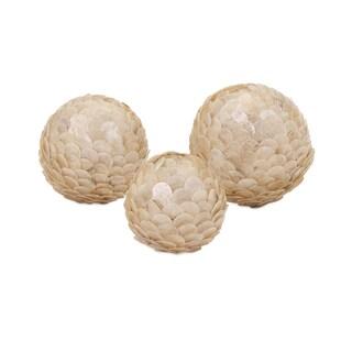 Estela White Shell Balls (Set of 3)
