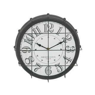 Classy Antique Themed Round Metal Wall Clock