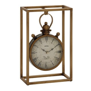 Copper Grove Chatfield Fabulous and Unique Metal Table Clock