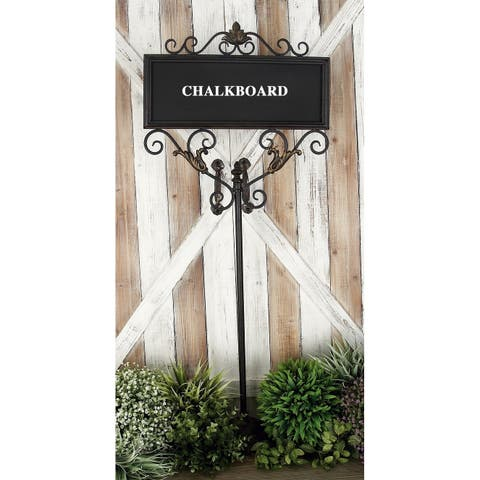 Farmhouse 42 x 18 Inch Rectangular Chalkboard with Stand by Studio 350