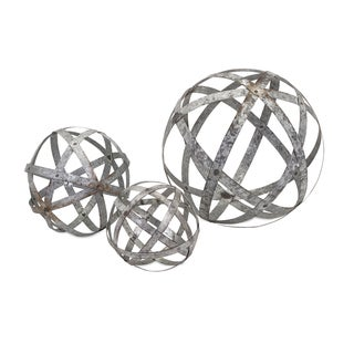 Link to Carbon Loft Gilbert Demi Galvanized Spheres (Set of 3) Similar Items in Accent Pieces