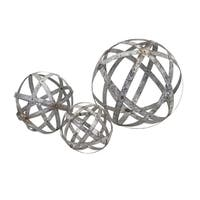 Demi Galvanized Spheres (Set of 3)