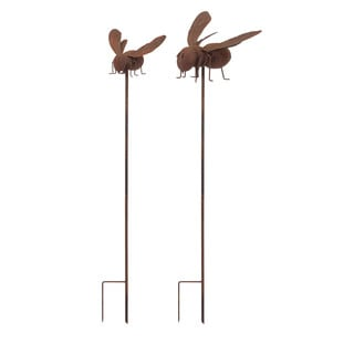 Abbott Bee Garden Stake or Wall Decor (Set of 2)