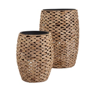 Cayla Natural Weave Planters w/ Insert (Set of 2)