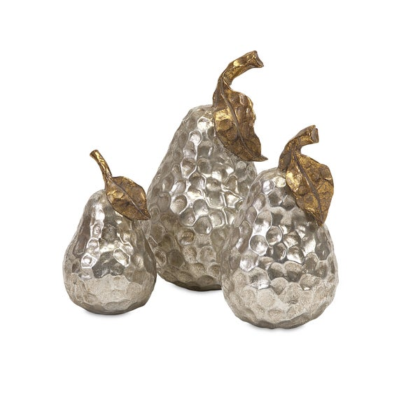 Lambert Gold and Silver Pears (Set of 3)