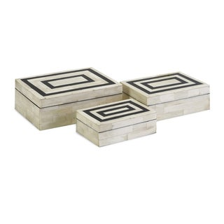 Bella Bone Inlay Boxes (Set of 3)