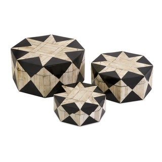 Lanta Bone Inlay Boxes (Set of 3)