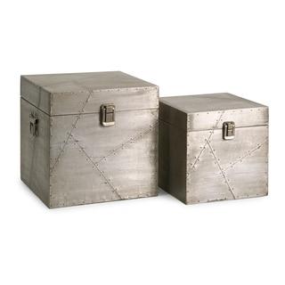 Jensen Aluminum Clad Boxes (Set of 2)