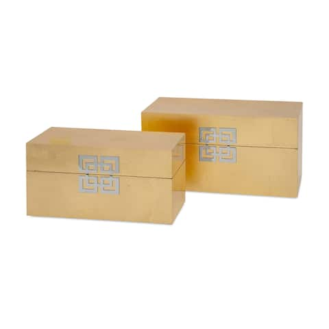 Danes Gold Leaf Boxes (Set of 2)