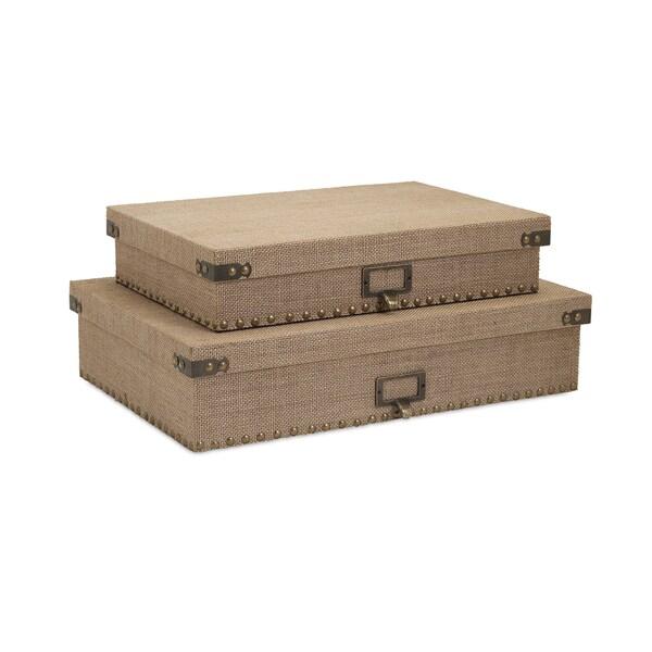 Corbin Document Boxes (Set of 2)