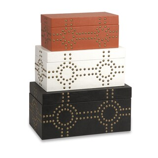 Jordan Studded Boxes (Set of 3)