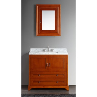 Eviva Milano.T 36-inch Bathroom Vanity Brown/Teak