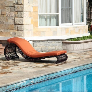 Robin S Nest Outdoor Rattan Lounge Chair With Ottoman