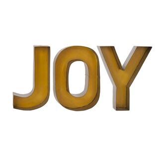 Joy Metal Wall Decor