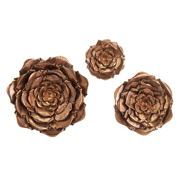 Metal Wall Flowers blayney metal wall flowers (set of 3) - free shipping today