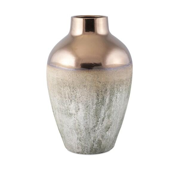 Hargrove Large Metallic Top Vase
