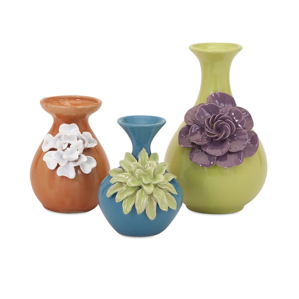 Shop Baylee Mini Vases Set Of 3 Free Shipping Today Overstock