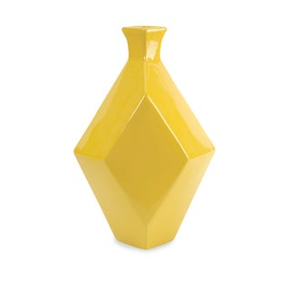 Chantal Large Yellow Ceramic Vase