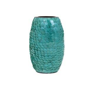 Estela Small Blue Shell Vase