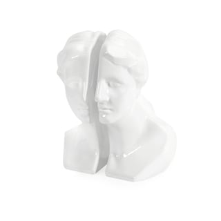 White Greek Lady Bookends (Set of 2)