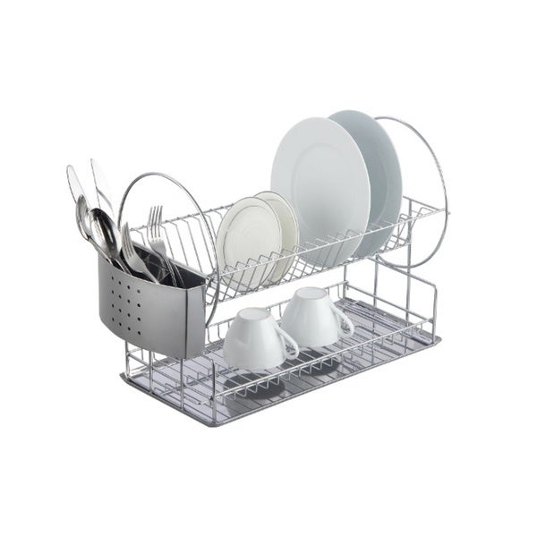 66711f7c44 Shop Magic Chef 2-tier Chrome Dish Rack - Free Shipping On Orders Over $45  - Overstock - 10164946