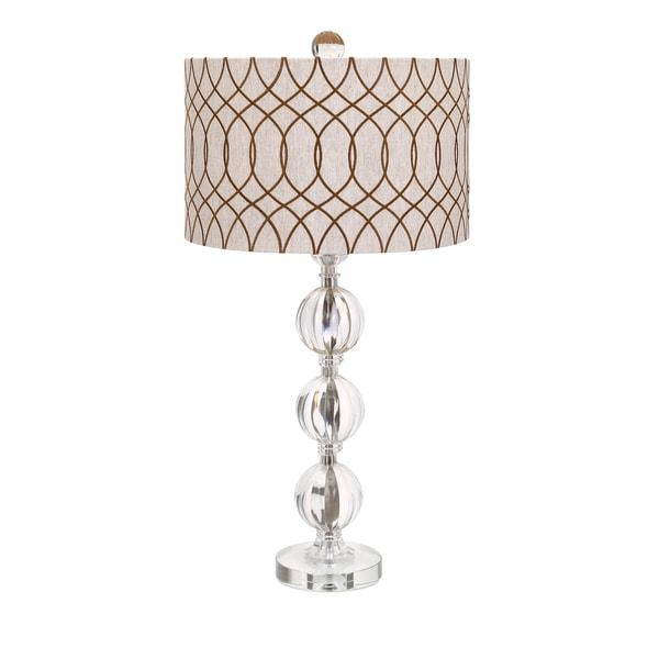 Avena Acrylic And Crystal Table Lamp