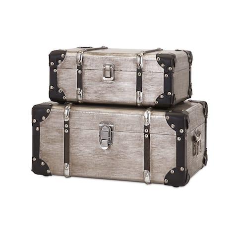 Baker Aluminum Clad Suitcases (Set of 2)