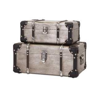 Baker Aluminum Clad Suitcases (Set of 2)