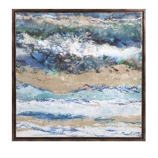Seaside Waves Framed Canvas - Seaside Waves