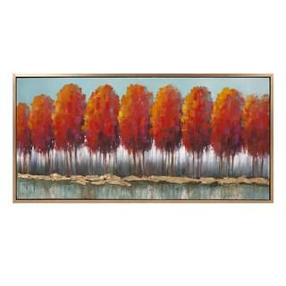 Autumn Row Oil On Canvas With Frame