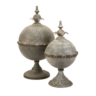 Decorative Lidded Sphere (Set of 2)