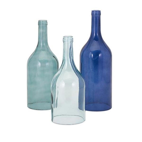 Monteith Blue Cloche Bottles (Set of 3)