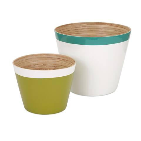 Jamye Bamboo Cachepot (Set of 2) - 8' x 10'