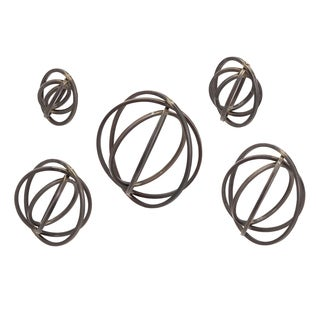 Spheres Metal Wall Decor (Set of 5)
