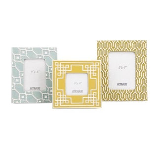 Sylvia Geometric Ceramic Frames (Set of 3)