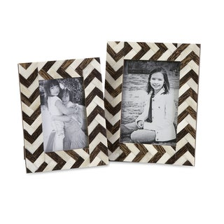 Zig Zag Bone Inlay Frames (Set of 2)