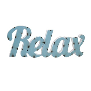 Relax Metal Wall Decor