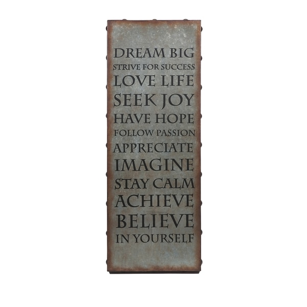 Beau Galvanized Inspirational Wall Art
