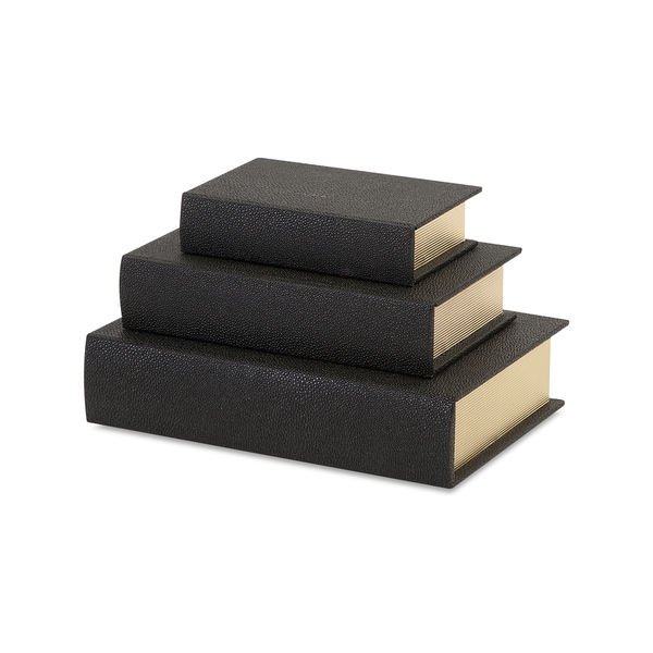 Nikkichu: Shop Nikki Chu Black Shagreen Book Boxes