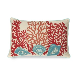 Tyden Shells and Coral 16-inch Pillow