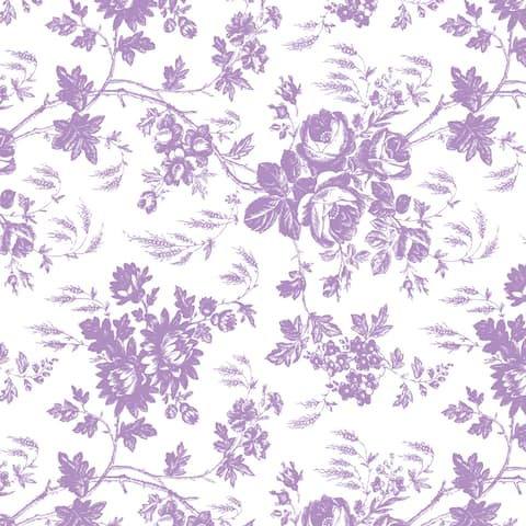 Con-Tact Brand Creative Covering Self-Adhesive Vinyl Shelf and Drawer Liner, Toile Lavender